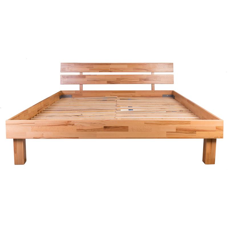 Pat lemn masiv EVA matrimonial   magazin online mobila lemn masiv