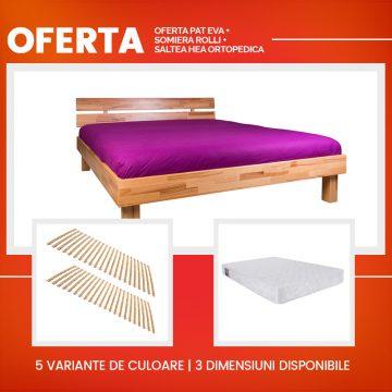 Oferta Pat Eva + Somiera Rolli + Saltea Hea Ortopedica