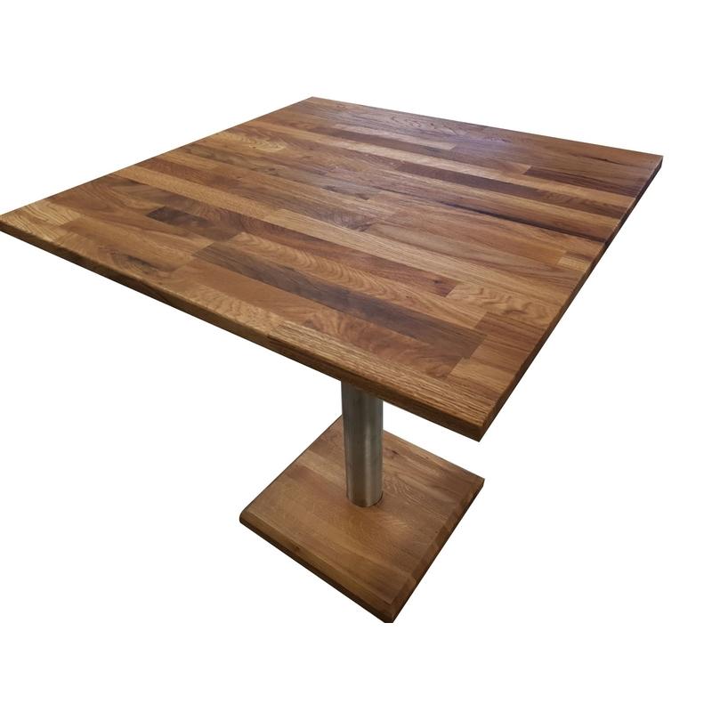Masa Lore, lemn masiv stejar, 70x70x75