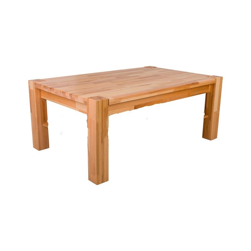 Masa living, lemn masiv, natur, 160x90x75 cm