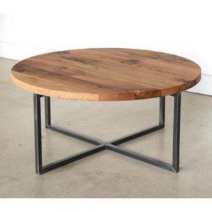 Masuta cafea Molly, lemn stejar salbatic + metal