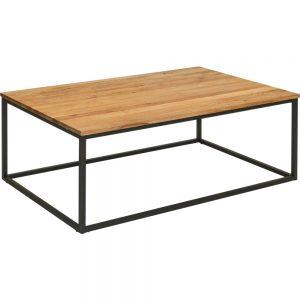 Masuta cafea Noble, L100xl60xh41, lemn stejar salbatic + metal